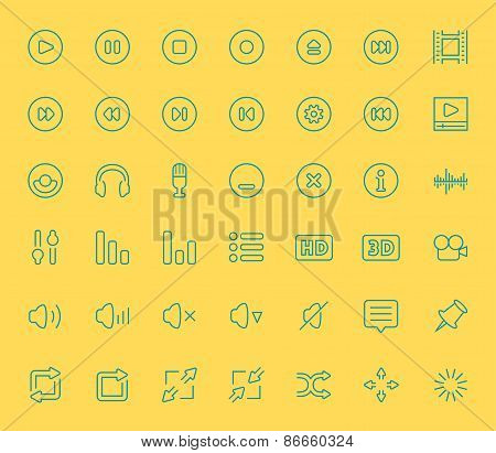 Vector Audio And Video Player Icons