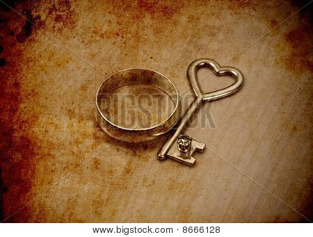 The Key To Everlasting Love Conceptual Image