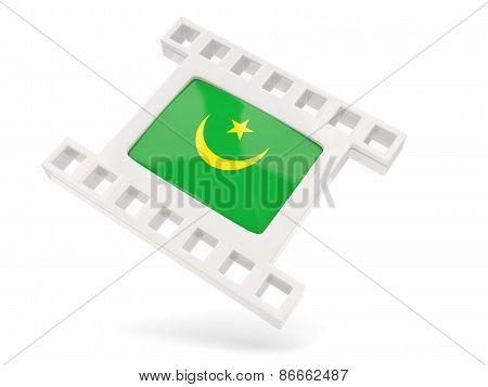 Movie Icon With Flag Of Mauritania