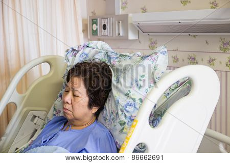 Patient Sleeping In Hospital