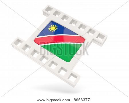 Movie Icon With Flag Of Namibia