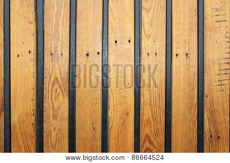 Wooden Texture With Metal Bars