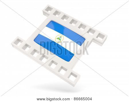 Movie Icon With Flag Of Nicaragua