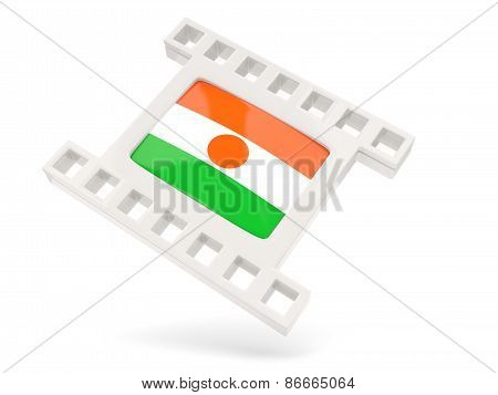 Movie Icon With Flag Of Niger