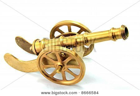 Golden Canon Isolated on White