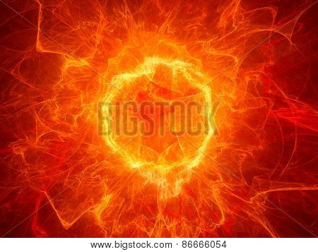 Fiery Torus Shaped Plasma Power Field