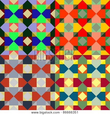 Seamless Patterns From A Set Of Colored Squares