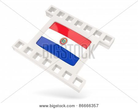 Movie Icon With Flag Of Paraguay