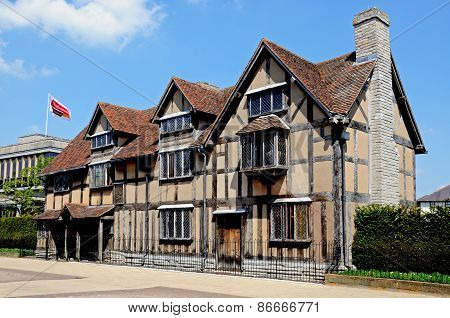 Shakespeares Birthplace, Stratford-upon-Avon.