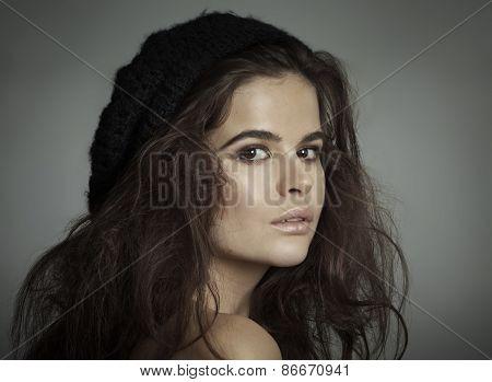 Woman In Barret