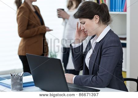 Worker Of Corporation Having Migraine