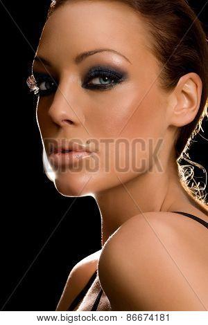 Woman On Black
