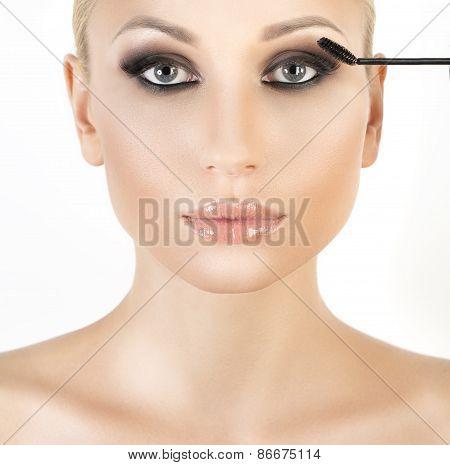 Woman long eyelashes