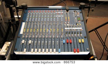 sound equipment. Mixing desk.sound control unit