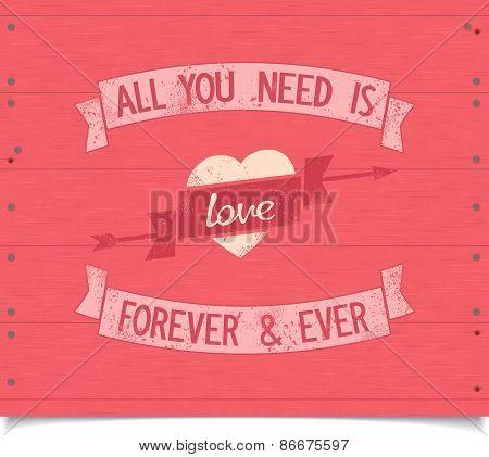 vintage love poster design