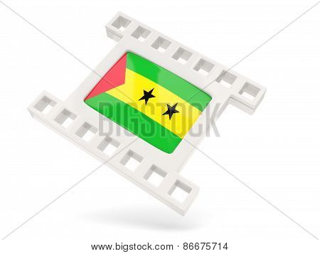 Movie Icon With Flag Of Sao Tome And Principe