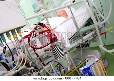 Modern Equipment In The Hospital Room