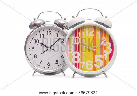 Alarm clock isolated on the white background