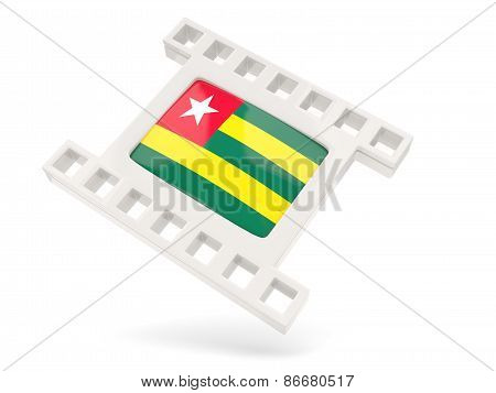 Movie Icon With Flag Of Togo