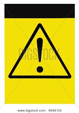 Blank Yellow Black Triangle General Caution Danger Warning Attention Sign