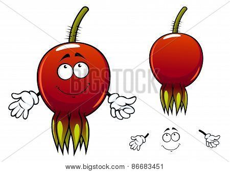 Smiling ripe briar fruit cartoon character