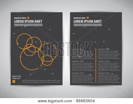 Minimalistic color style brochure, catalog, cover, page layout template