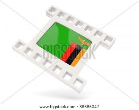 Movie Icon With Flag Of Zambia