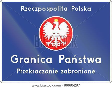 National Border Crossing In Poland