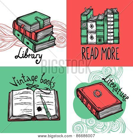Books Design Concept Set