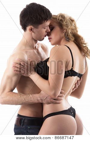 Young Couple Love Play
