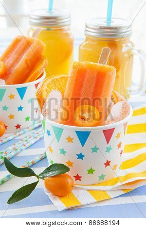 Homemade Orange Popsicles