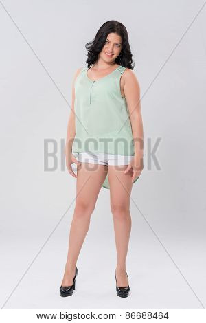 Attractive plus size woman