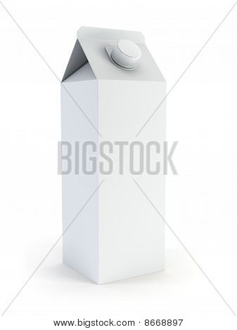 Isolated Blank Milk Box