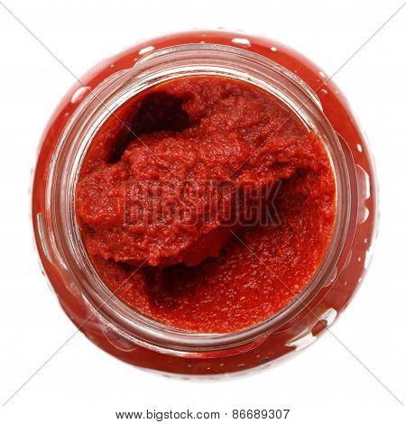 Tomato puree or paste.