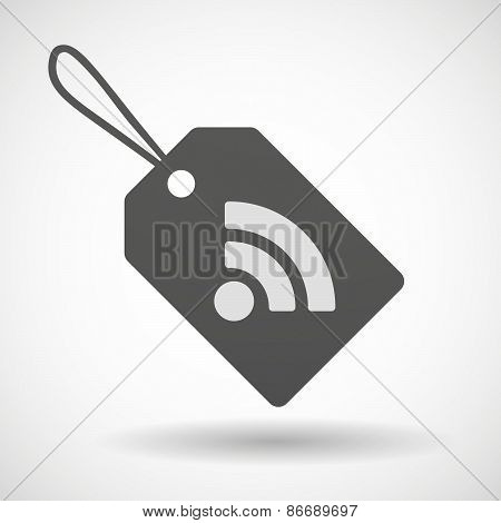 Shopping Label Icon With A Rss Sign
