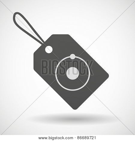 Shopping Label Icon With An Atom