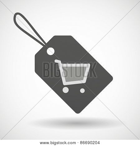Shopping Label Icon With A Shopping Cart