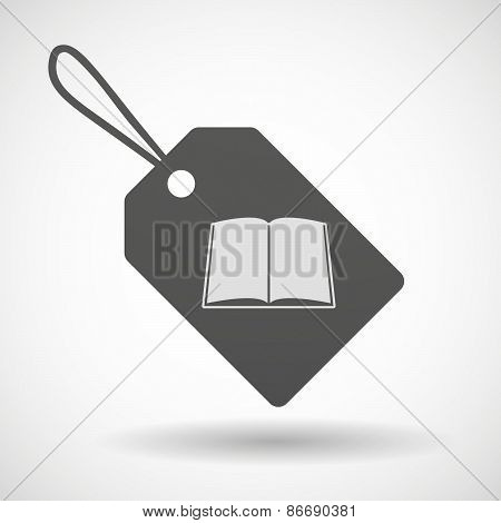 Shopping Label Icon With A Book