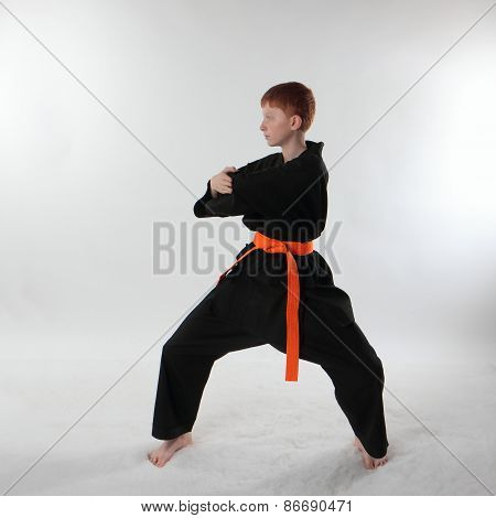 Karate in the attack.