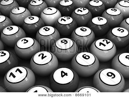 Black-white Billiard Balls