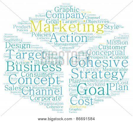 Box Shaped Marketing Word Cloud