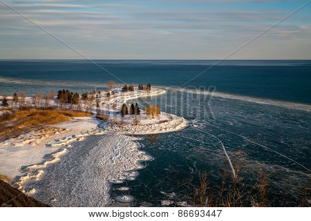 Scarborough Bluffs In The Winter