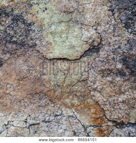 Natural Granite Stone Texture Background. Rough And Rusty. Close-up