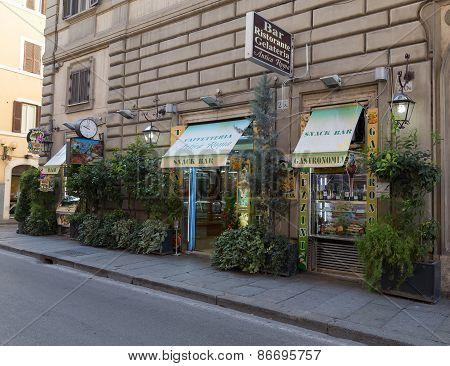 Snack Bar In Rome