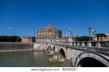 Castel Sant'angelo (castle Of The Holy Angel) During The Day