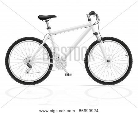 Mountain Bike With Gear Shifting Vector Illustration