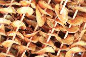 picture of crisps  - Homemade potato crisps as very gourmet food background - JPG