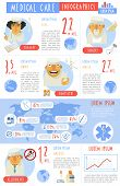 stock photo of prophylactic  - Medical care allergy therapy and dental surgery infographics worldwide  statistic charts presentation report poster abstract vector illustration - JPG