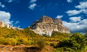 stock photo of eminent  - The single rock is in the Crimean valley - JPG