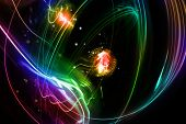 picture of swirly  - Abstract swirly lines futuristic space background - JPG